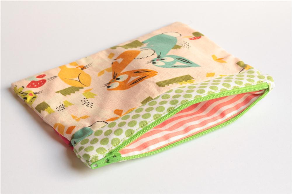 Patchwork Pouch - Bunnies and Kittens